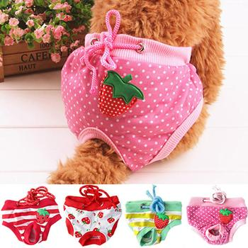 HOT SALES Female Pet Dog Puppy Diaper Pants Physiological Sanitary Short Panty Nappy Underwear M/L/XL image
