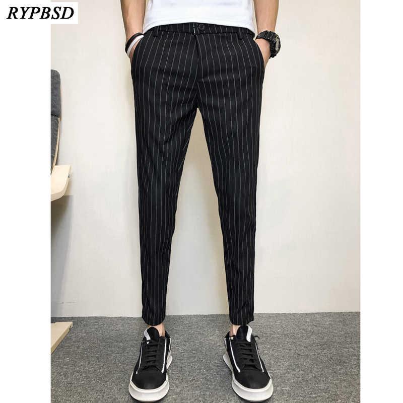 Pantalones De Rayas Blancas Y Negras Para Hombre Novedad De 2020 Pantalones De Verano A Rayas Para Hombre Pantalones De Chandal Informales A La Moda Con Cremallera Pantalones Harem Negros Para Hombre Pantalones