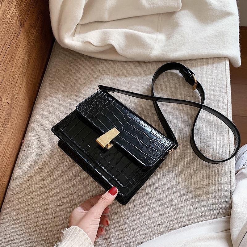 Women's Bags Shoulder Crossbody Bag Female Fashion Crocodile Ladies High Quality Black Flap New Vacation