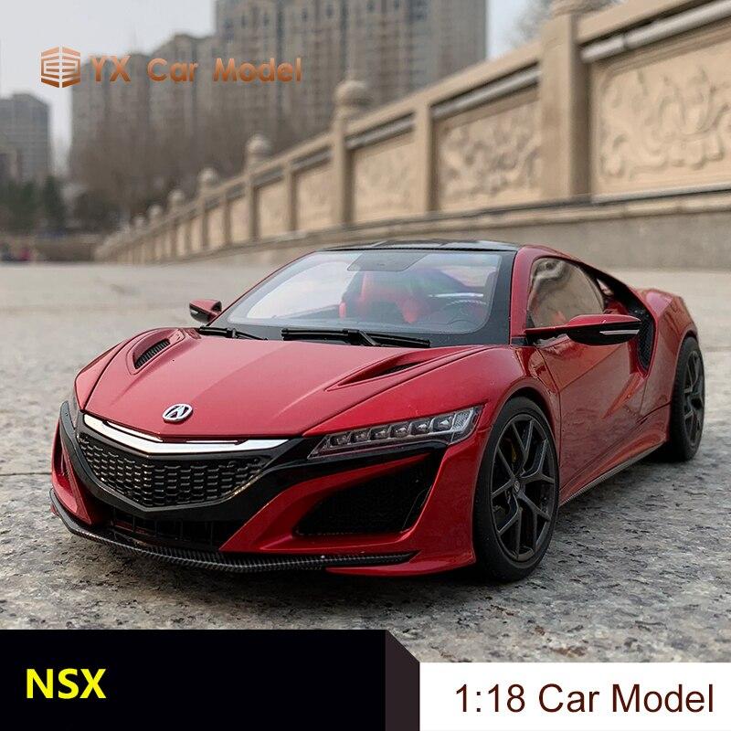 Coche fundido a presión modelo KengFai Honda NSX 1:18 Honda NSX coche de simulación de aleación de metal modelo (pequeño regalo)