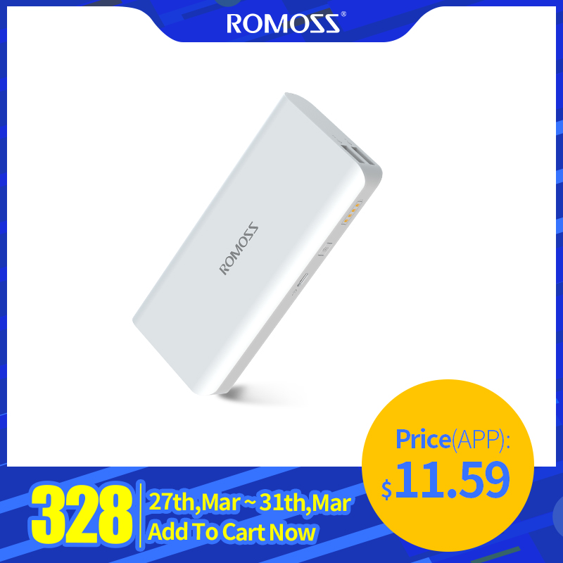 10000 MAh Romoss Solo 5 Power Bank Dual Output External Battery Packs Compact Slim Thin Portable Powerbank Charger For Phone