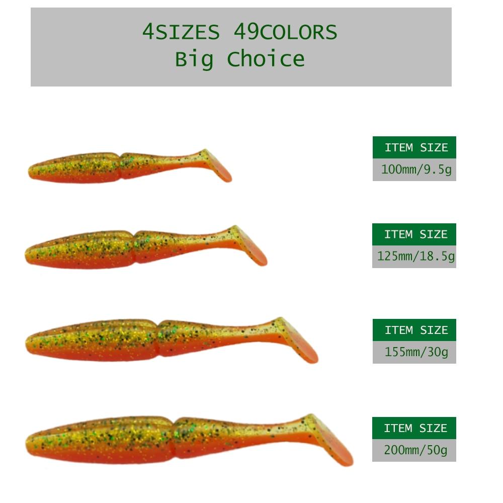 Kvalitetne varalice 100mm 125mm 155mm 200mm ribolovne meke mamke - Ribarstvo - Foto 4