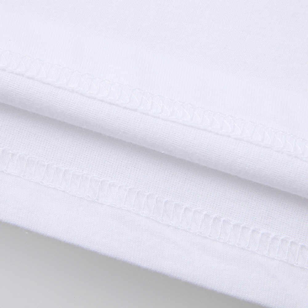 Putih Pria Lengan Pendek T Shirt Plus Ukuran Longgar O Leher Kasual Camisa Masculina Fashion Kebesaran Sederhana Tops Chemise # D