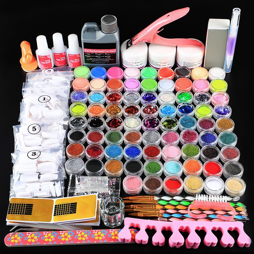 prego cristal strass escova decoração ferramentas kit para manicure