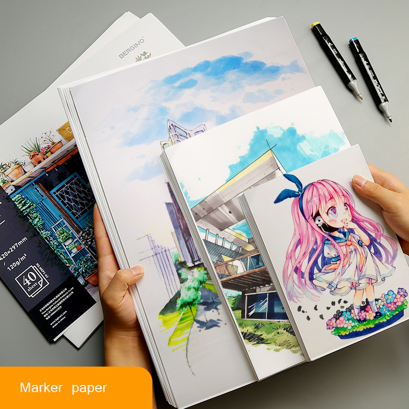 50 Sheet A4/A5 Proffessional Marker Paper Sketch Painting Marker Paper For Drawing Marker Pen Book Artist Supplies