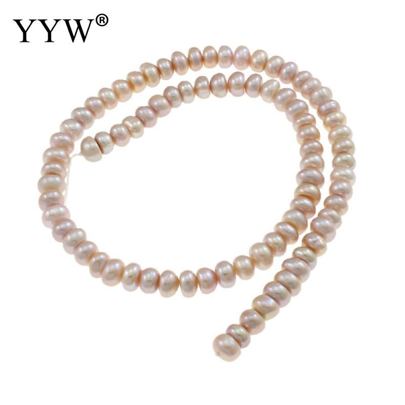 Sale!! 7-8mm Cultured Button Freshwater Pearl Beads Light Purple Loose Pearls For Jewelry Making Diy Hole 0.8mm 15.5 Inch Strand