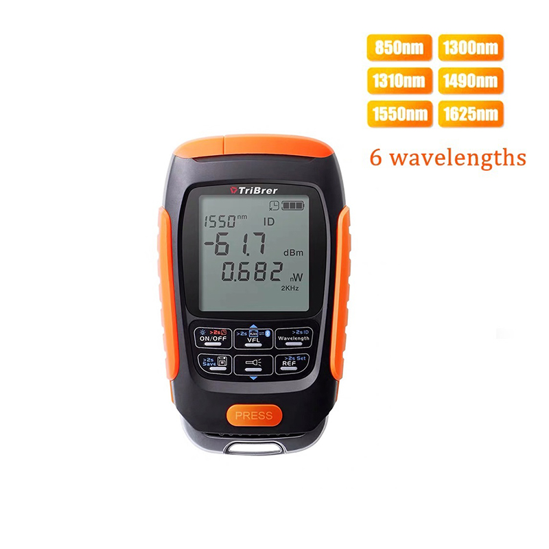 Mini 4 In 1 Multifunction Optical Power Meter Visual Fault Locator Network Cable Test Optical Fiber Tester 5km 15km 30km  VFL