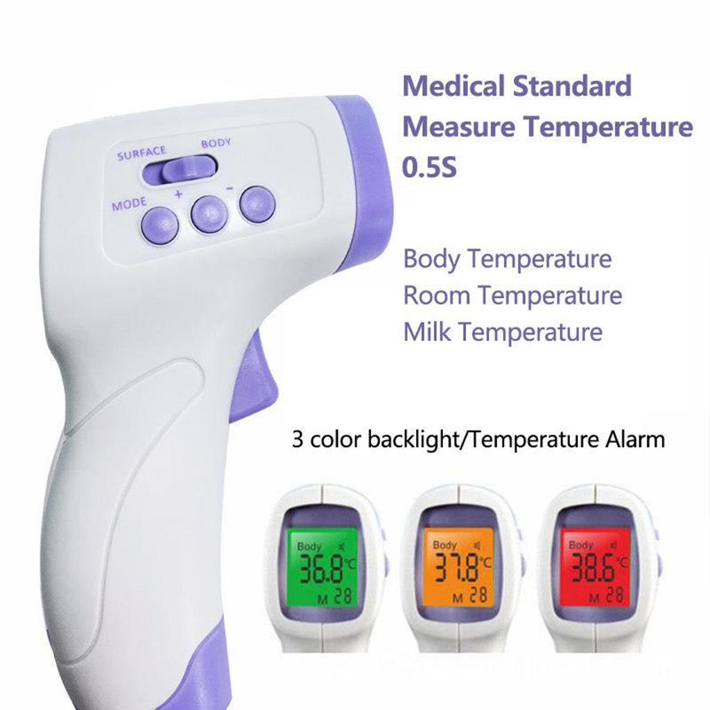 Image 5 - Electric Forehead Thermometer One Second No Touch Non Contact Body Fever Thermometer Digital IR Infrared Forehead Thermometer    -