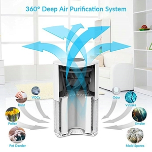 Image 4 - RIGOGLIOSO air cleaner TURE HEPA air purifier 4speed adjustment eco purificateur air hepa screen display air filter high quality