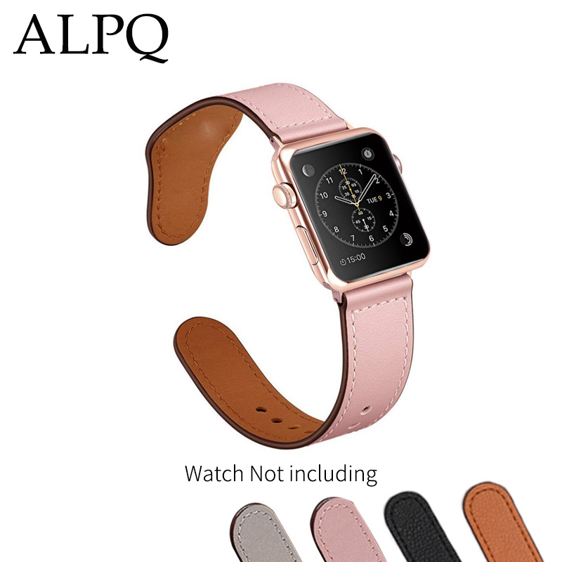 Leather Loop Strap For apple watch Band series 4 Strap 38mm 40mm 42mm 44mm Sport Watch Men Women Band for iwatch 4 3 2 1