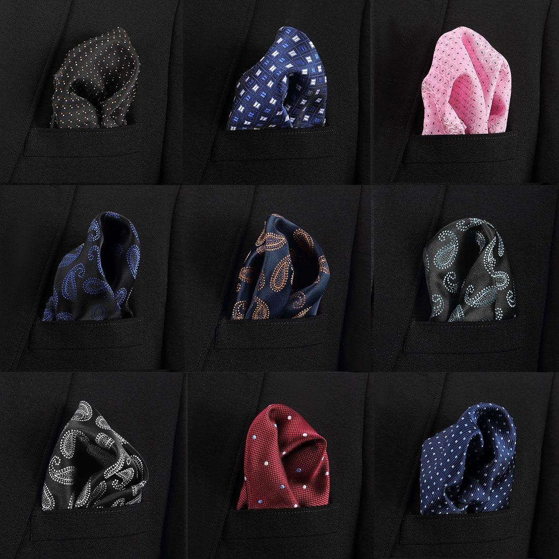 New Luxury  Hankerchief  Scarves Vintage Silk  Paisley Hankies Men's Pocket Square Handkerchiefs Chest Towel