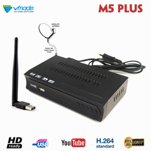 Image 1 - DVB S2 위성 수신기 + USB WiFi 동글 어댑터 미니 안테나 지원 내장 WiFi 소프트웨어 M3U Youtube Bisskey 셋톱 박스