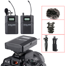 2019 Mailada WM8 Wireless UHF DSLR Camera Microphone System On Camera Lavalier Lapel Mic Receiver Transmitter цена