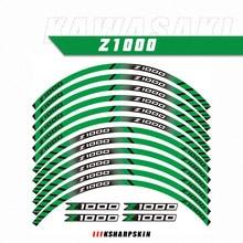 Equipamentos Acessórios de Motociclismo Roda Pneu Rim Decoração Adesivo Z1000 Reflexiva Decalque Para Kawasaki z 1000