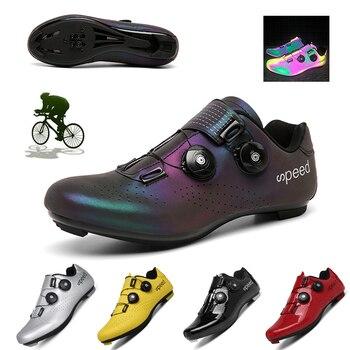 Mtb ciclismo sapatos homem auto-bloqueio profissional atlético sapatos de bicicleta sapaticultura respirável tênis tamanho grande 36-47 1