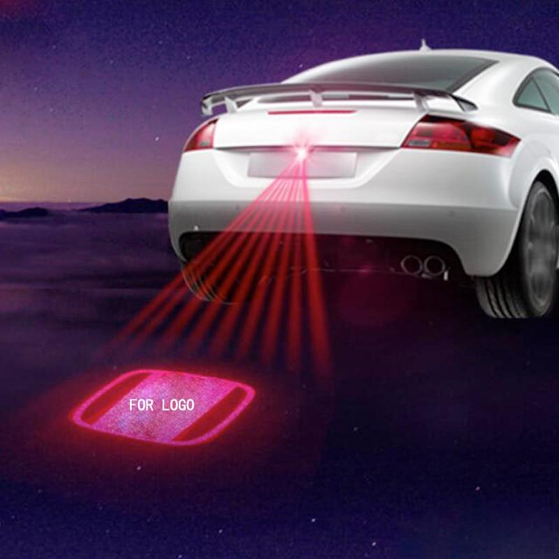 Car Laser Projector Rear fog Brake Turn Signal License plate park light For honda city nissan volkswagen decor accessories lamp