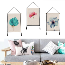 Flower language tapestry Hanging picture decorative paintings household textile custom polyester 45cm*65cm