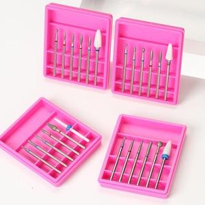 Image 1 - 6pcs Ceramic Diamond Nail Drill Mix Bits Set Milling Cutter for Manicure Electric Machine Pedicure Burrs Nail Art Accessories