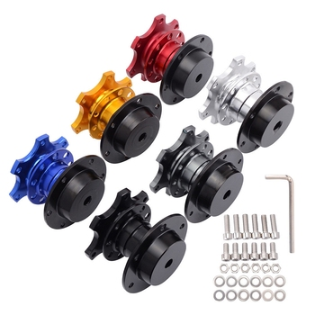 Universal Steering Wheel Quick Release Increased Adapter Seat Steering Wheel Auto Parts for 6 Hole Steering Wheel Hub wholesale 51mm steering wheel spacer adapter hub boss kit universal aluminum for momo omp v6