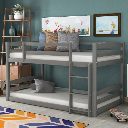 Twin Over Twin Bunk Bed Separable Gray Beds Aliexpress