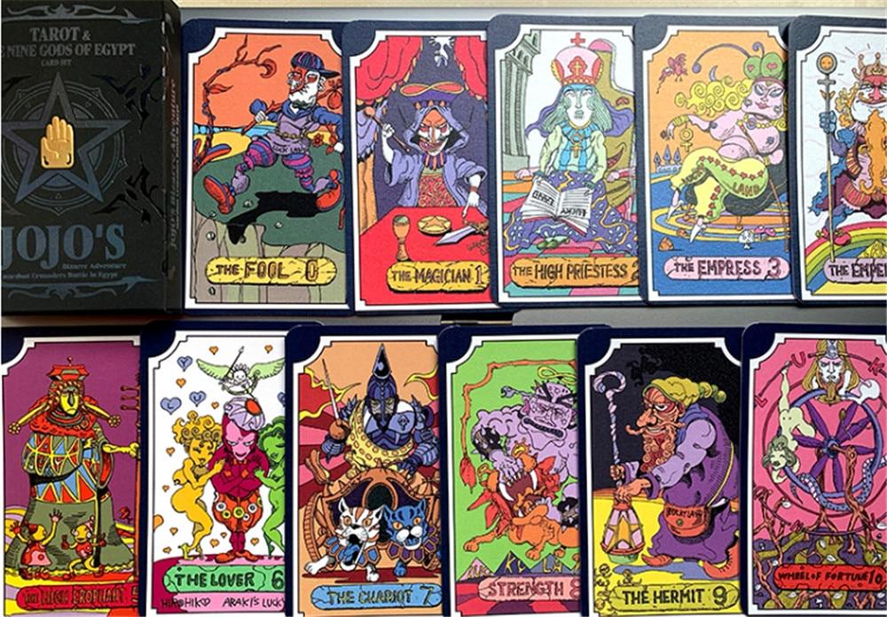 Jojo S Bizarre Adventure Tarot Card Kujou Jotarou Japanese Anime 31 Cards Costume Props Aliexpress