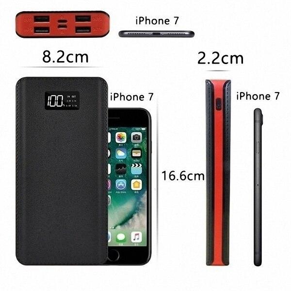 Xiaomi горячая Распродажа 30000 мАч Внешний аккумулятор 4 USB порта с двойным входным портом цифровой дисплей портативное зарядное устройство Аксессуары для мобильных телефонов
