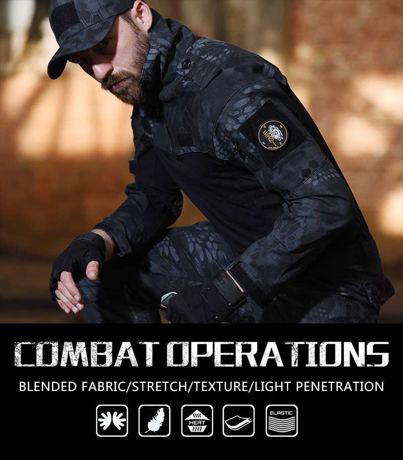 HAN SELVAGGIO Vestiti Da Caccia Camuffamento Tattico Rana Vestiti Uniforme Militare Paintball Airsoft Sniper Combattimento Shirt & Pants Jersey