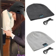 Unisex Smart Wireless Bluetooth Music Winter Warm Knitted Beanie Hat Headphones Cap with Handsfree Earphone Cheap sport wireless bluetooth headset music hat colorful smart cap headphones beanie warm winter hat with speaker mic earphones