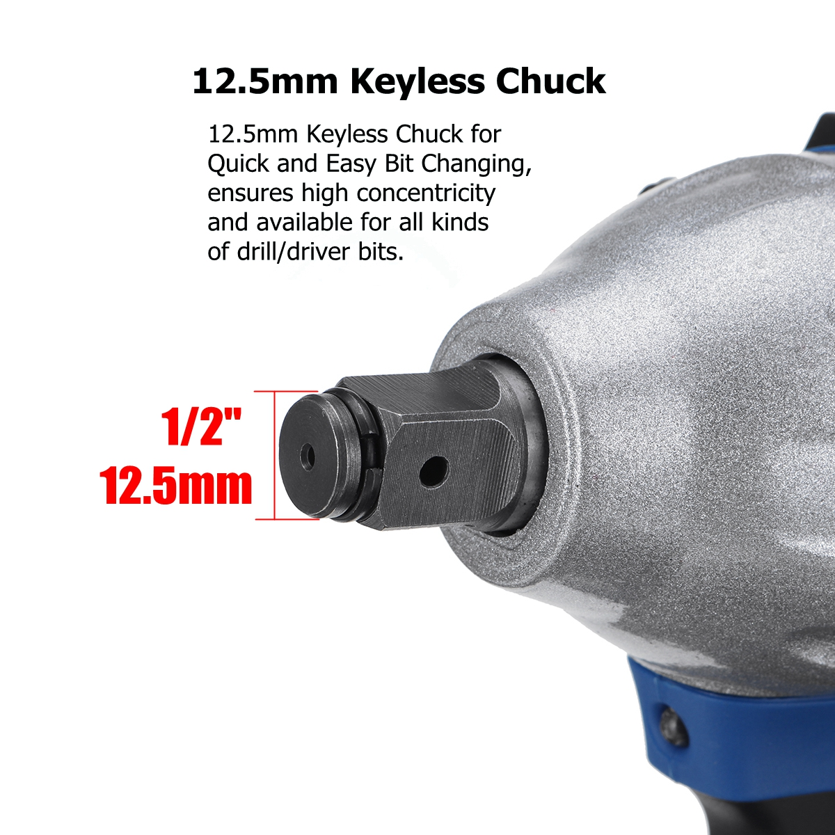 18V 520N m  Li-Ion Cordless Impact Wrench 1 2 Electric Wrench Replacement for Makita Battery DTW285Z
