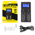 LiitoKala Lii-PD2 Lii-PD2 зарядное устройство с ЖК-дисплеем для 21700 20700 18650 18350 26650 22650 14500 NiMH батарея умное зарядное устройство