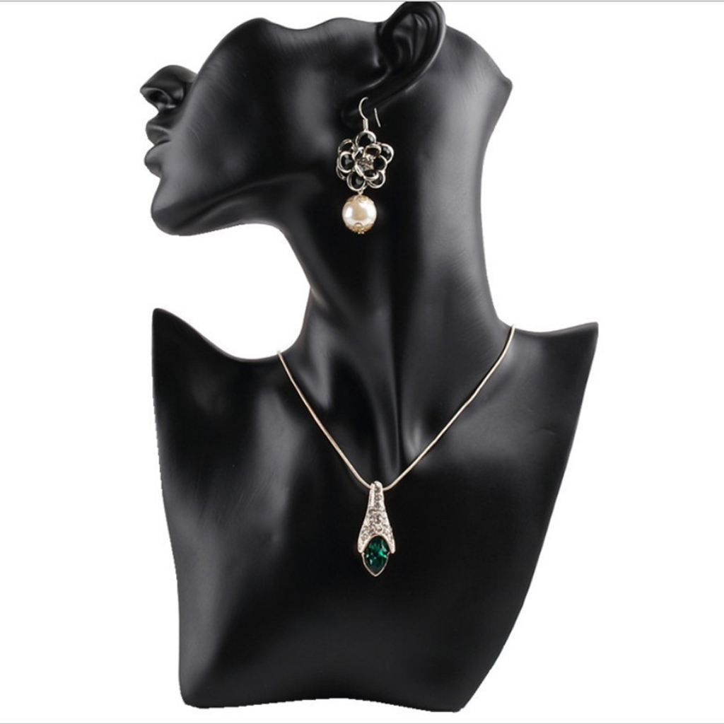Model Bust Show Exhibitor Earring Necklace Display Bust Stand Mannequin, Jewelry Display, Premium