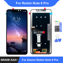 For Xiaomi Redmi Note 6 Pro LCD Display Touch Screen Digitizer Assembly Repair Parts Redmi Note 6 Pro Display Frame Replacement for xiaomi redmi note 3 note 3 pro 150mm original new black gold white lcd display touch screen digitizer frame bezel parts