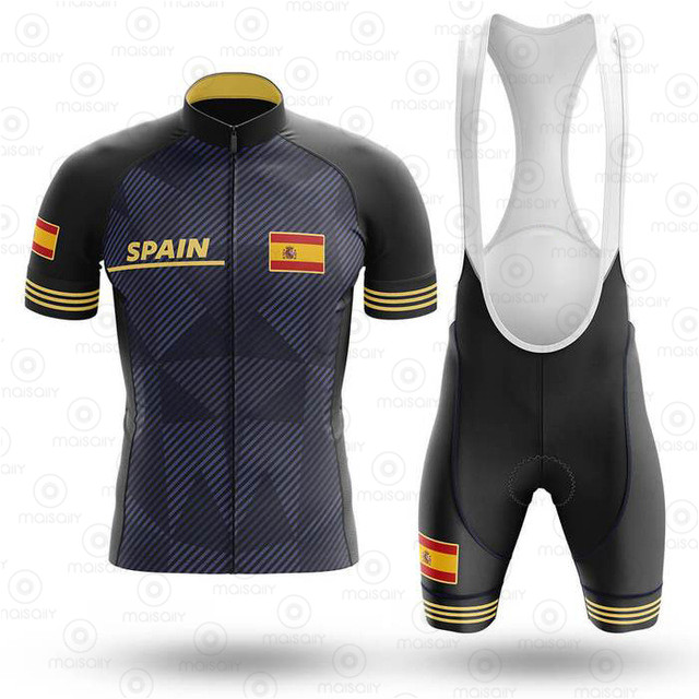 2020 Spain Cycling Jersey Set Breathable Pro Team Bicycle Jersey Men Cycling Clothing Clothes Bib Shorts Suits Bike Wear Jerseys