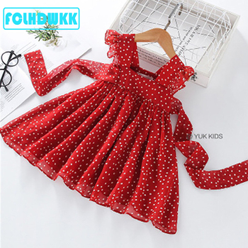 2-6Y Girls Red Bow Dress Princess Tutu Summer Dress for Girls Children Birthday Party Vestidos Kids Autumn Spring Dresses 2017new china traditional red color girls children princess dress embroidery lace wedding birthday party ceremony dress for kids