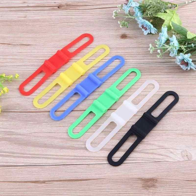 Vendaje elástico de silicona con correa para bicicleta de montaña o de carretera, bandas para linterna, montaje de luz de bicicleta, soporte con vendaje de alta flexibilidad