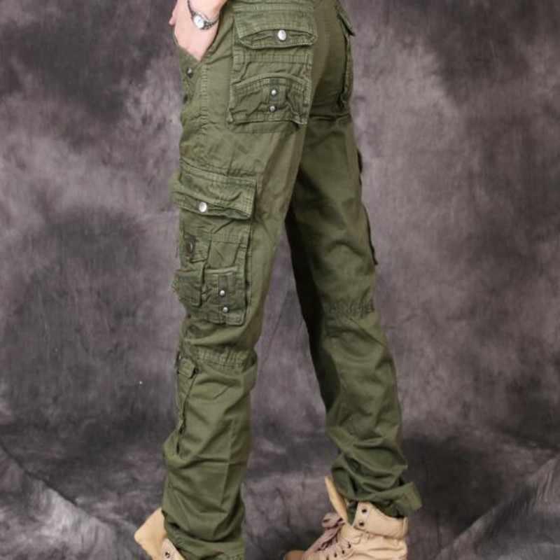 Hot Koop New Fashion Dames Militaire Leger Cool Dames Lange Casual Ladingen Camouflage Rechte Casual Broek Katoenen Broek