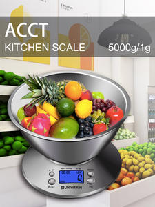 Kitchen-Scale Alarm-Timer Libra Digital Stainless-Steel with Removable Bowl Temperature