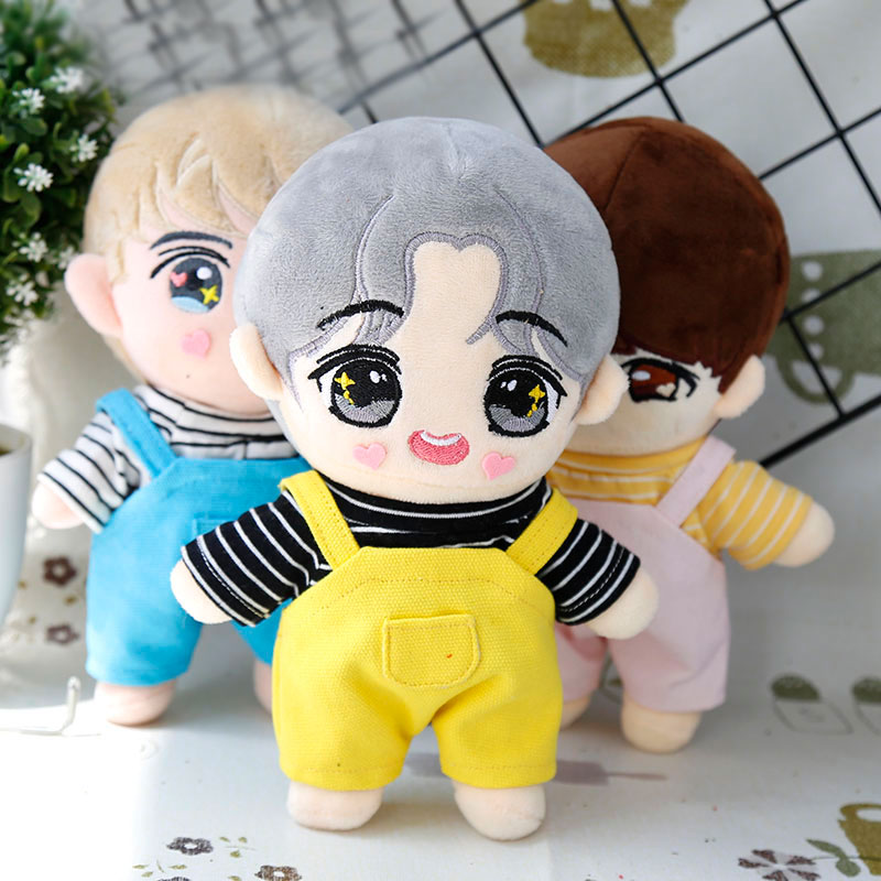 20cm EXO Doll Doll Dress Striped Shirt Cute Candy Pants Doll Clothes Trousers T-shirt Doll Accessories