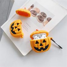 Christmas Pumpkin For Apple AirPods Case Pack Soft Silicone Bluetooth Wireless Cute Cartoon Headphones Drop Earphone