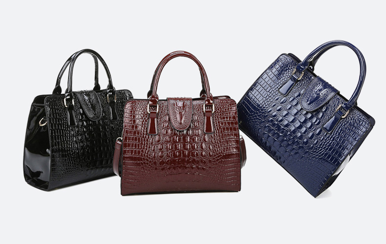 Túi xách nữ đẹp bộ 3 cái - thiết kế vân cá sấu - TX34