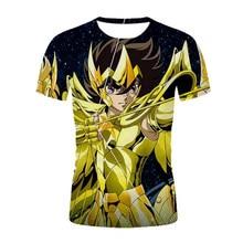 Saint Seiya 3D Printing Street Fashion Men's and Women's T-shirt Summer Cartoon Anime Harajuku Oversized Graphic Men's T-shirt