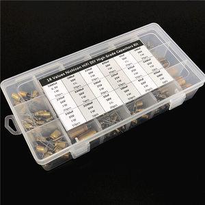 Image 1 - 18 Values Nichicon FW/FG HiFi DIY High Grade Audio capacitor assorted kit box assortment 6.3V~100V, 10uF~3300uF total 241pcs