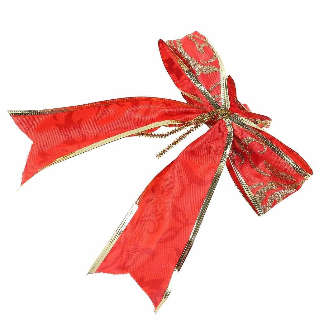 Wired חג המולד סרט מתנת קשת עוגת עץ זר גליטר קישוט # jink