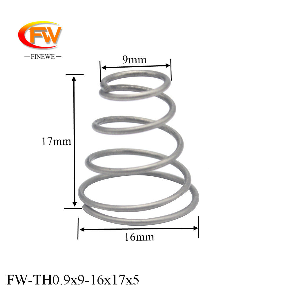 Size : 1x5 8x40x16mm NO LOGO ERGE-TANHUANG 5Pcs 304 Stainless Steel Tower Springs Conical Cone Compression Spring Taper Pressure Spring Wire Diameter 1mm