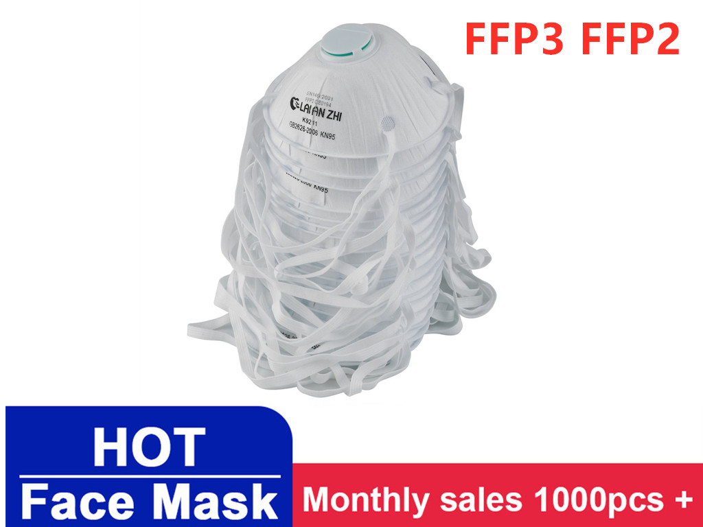 FFP3 FFP2 Protective Mask Cup With Breathing Valve High Efficiency Filtration 3D Fitting Design Light And Breathable IN STOCK !