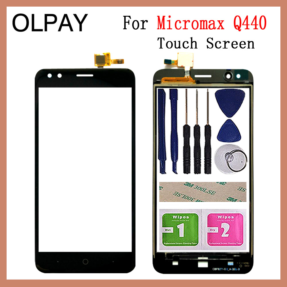 "Mobile Phone TouchScreen 5.0"" inch For Micromax Q440 Touch Screen Digitizer Sensor Touch Panel Glass Repair"