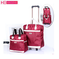 PU Waterproof Large Capacity Carry on Luggage Bags Traveling Luggage Bag with Wheels Suitcases and Travel Bags Rolling Luggage