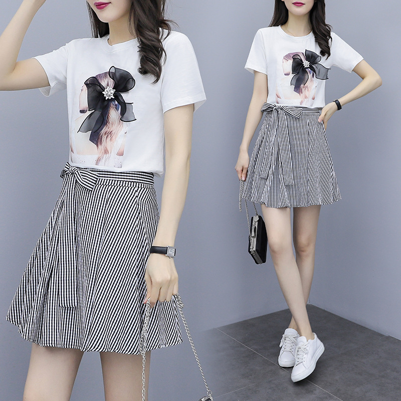 2019 Summer Wear New Style Very Fairy Of Royal Sister Online Celebrity French Hepburn Set Western Style Playful Two-Piece Set Fr