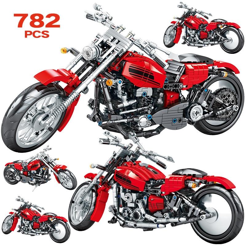 Diy мотоциклетные серии, совместимые наборы транспортных средств, внедорожные модели, строительные блоки, креативные блоки, городские игруш...