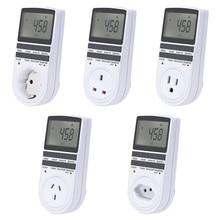 EU AU US UK BR Plug Socket Timer Switch Electronic Digital Plug-in Programmable Week 7 Day 12/24 Hour